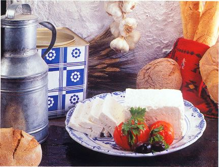 The famous greek feta cheese