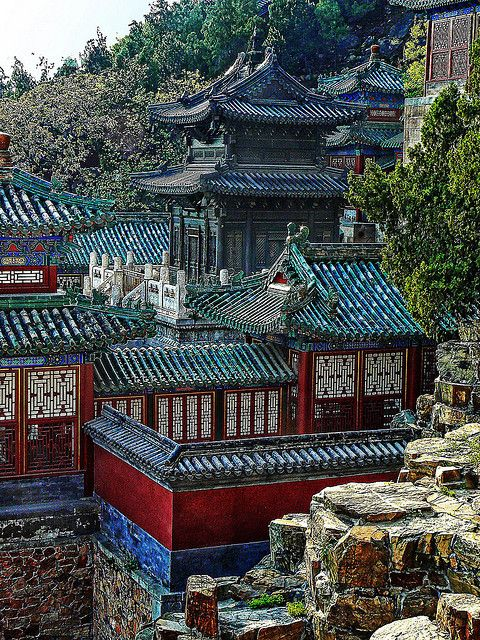 The Bronze Temple at the Summer Palace, Beijing, China