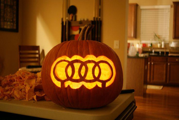 Audi halloween pumpkin logo love in with