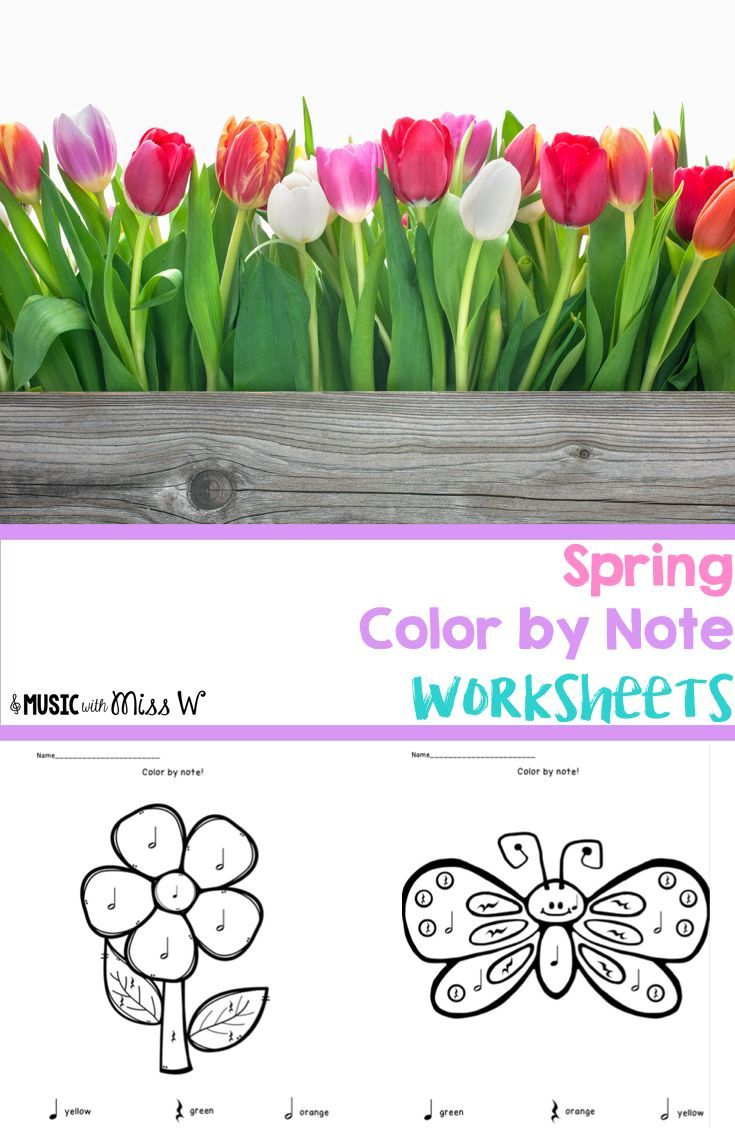 38 best Color by Note Worksheets images on Pinterest | Music ed ...