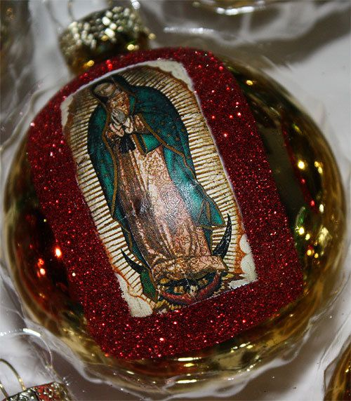 Mexican Christmas Ornaments Decorations Virgen de Guadalupe on Etsy, $29.95