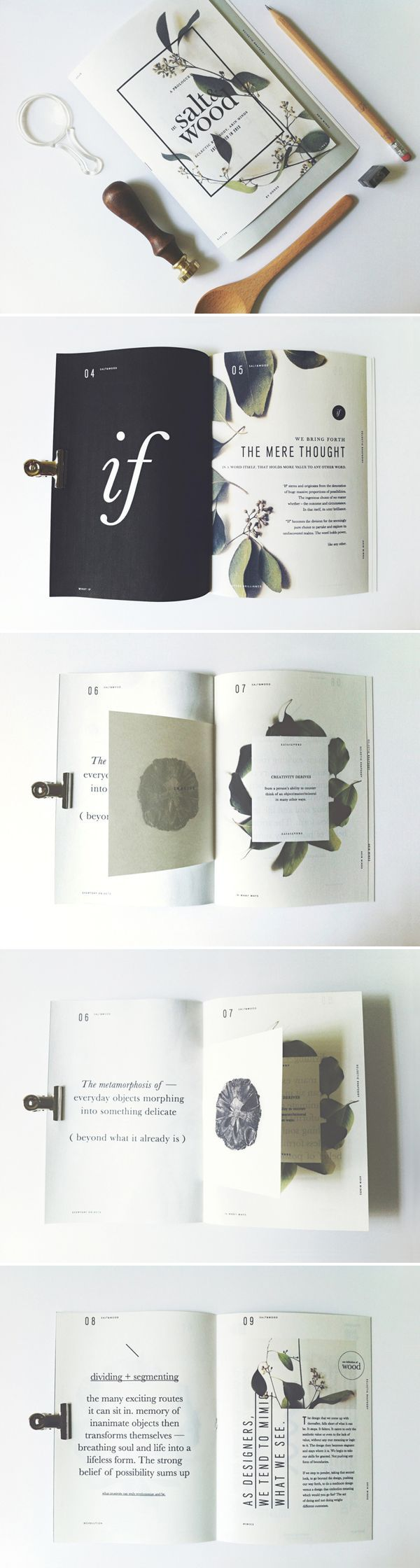 Salt & Wood, Zine. by Oddds , via Behance