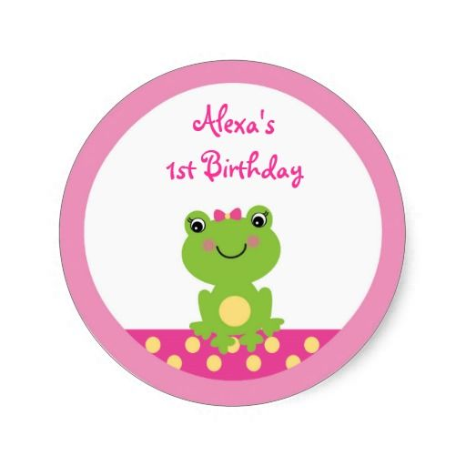 Girl Frog Stickers