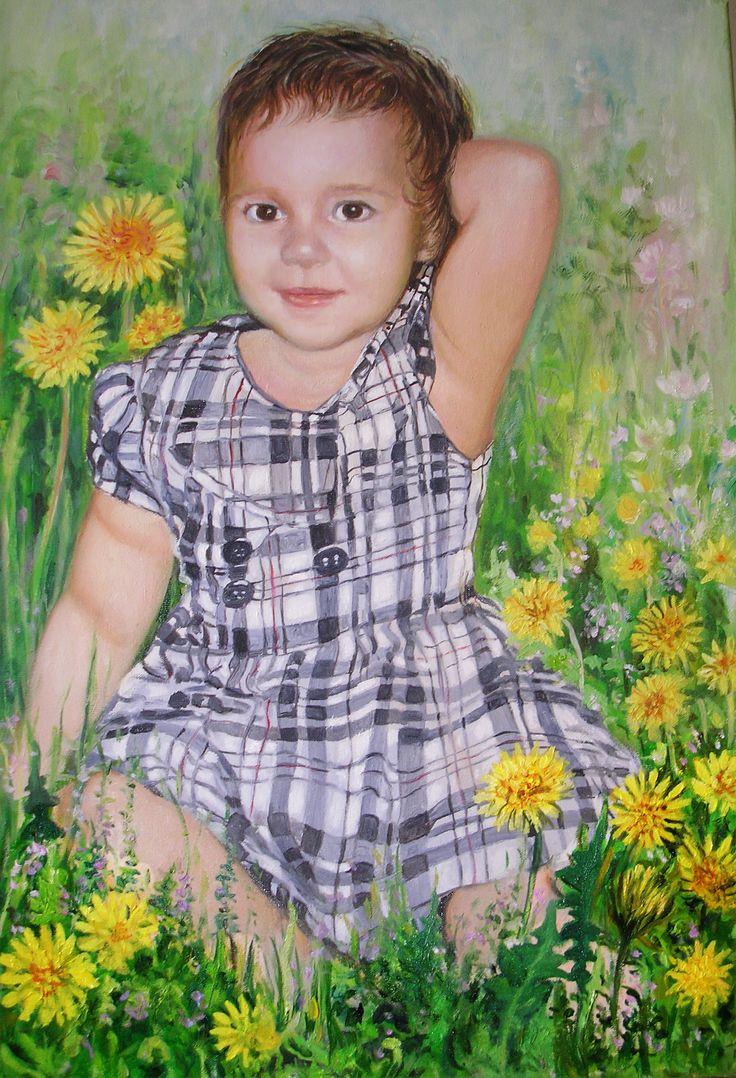 Malarstwo portretowe, obraz olejny, Dziecko