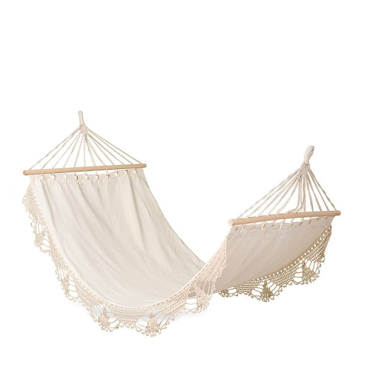 Macrame Natural Single Hammock
