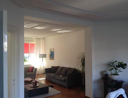 Foto serie van zachtboard plafond vervangen voor gipsplaten