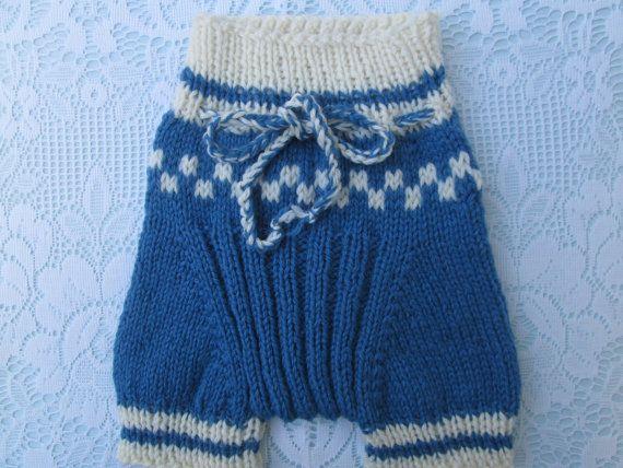 Small Handknit Wool Diaper Cover Soaker Shorties   by Ritaknitsall, $25.00