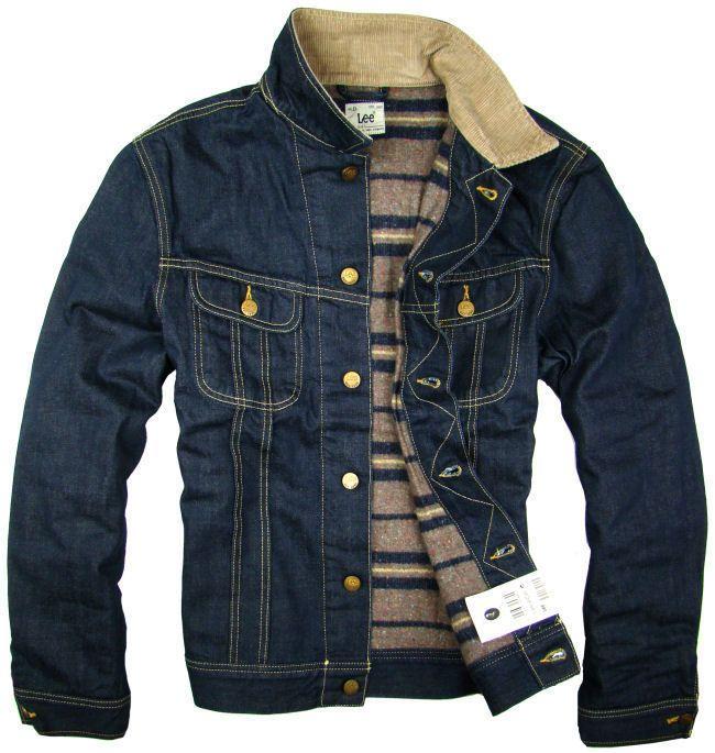NEW LEE STORM RIDER Denim Jeans Lined Slim Fit Jacket Blue Western S/M/L/XL