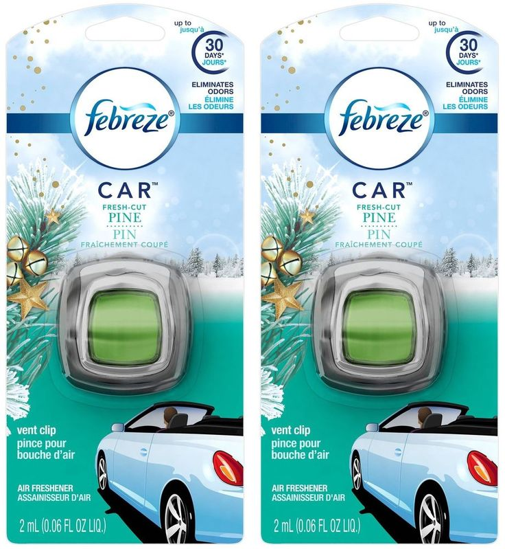 Febreze Car Vent Clip Air Freshener - Fresh-Cut Pine - Holiday Collection 201...  | eBay