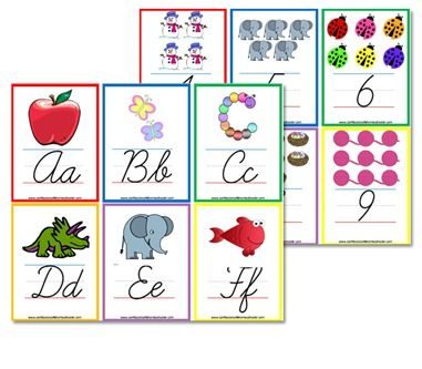Flashcard wall posters and alphabet on pinterest for Party wall act letter to neighbour