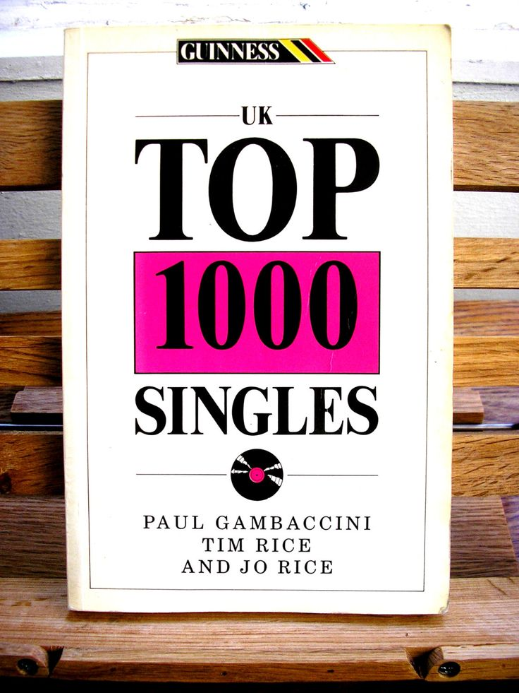 Vintage music reference book UK Top 1000 Singles Paul Gambaccini Tim Rice Jo Rice 1988 Guinness Books paperback discography illustrated by TrooperslaneBooks on Etsy