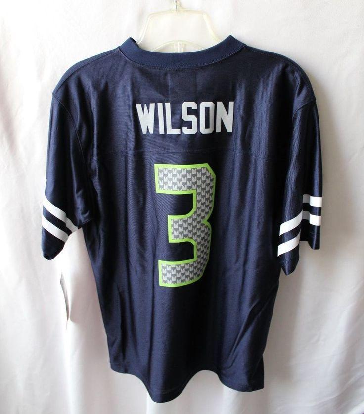 NFL Seahawks Blue Regular Season Wilson 3 Unisex Youth Jersey Size Large (14/16) #NFL #SeattleSeahawks