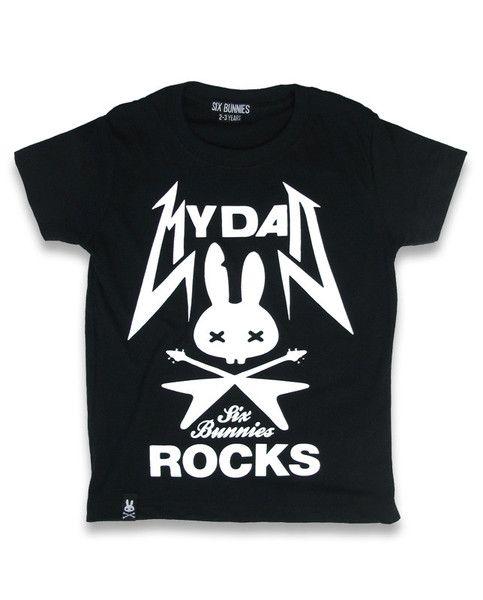 Tričko Six Bunnies - Dad Rocks