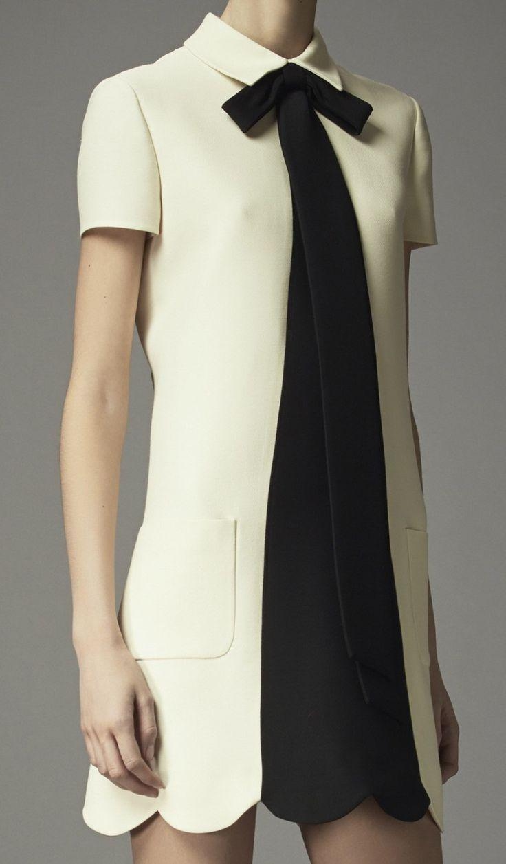 Valentino Pre-Fall 2014 fab simple chic smock,tshirt dress design with secretary…