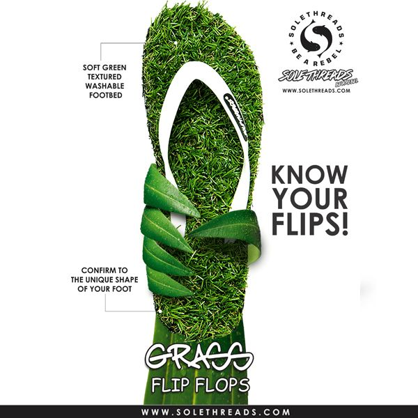 Feel close to nature with greeny, comfy grass flip flops