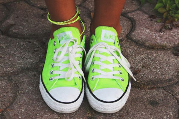 shoes converse lime all star
