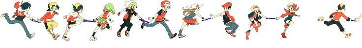 Tags: Fanart, Pokémon, Pixiv, Satoshi (Pokémon), Hikari (Pokémon), Haruka (Pokémon), Hibiki (Pokémon), Kotone (Pokémon), Red (Pokémon), Kris (Pokémon), Blue (Pokémon), Kouki (Pokémon), Yuuki (Pokémon), Fire (Pokémon), Fanart From Pixiv, Keisin