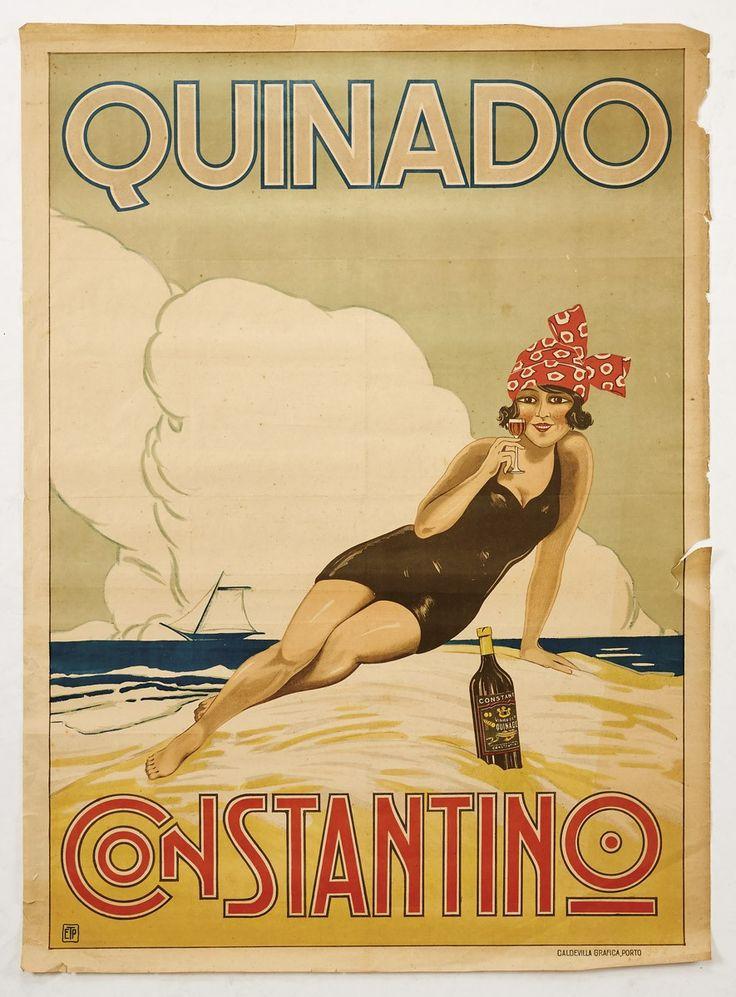 389 - Cabral Moncada Leilões /  Cartaz publicitário QUINADO CONSTANTINO