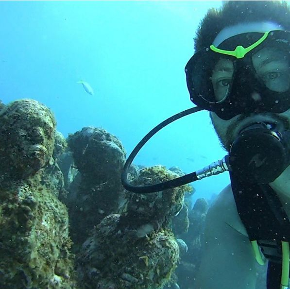 Diving MUSA off the coast of Mexico so warm no need for a wetsuit. #WPNLiveIt