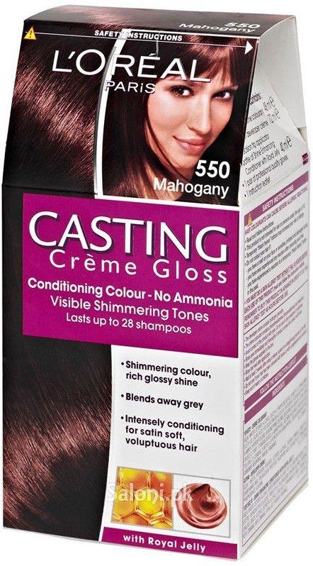 loreal paris casting creme gloss 550 mahogany saloni health - Coloration Temporaire L Oreal