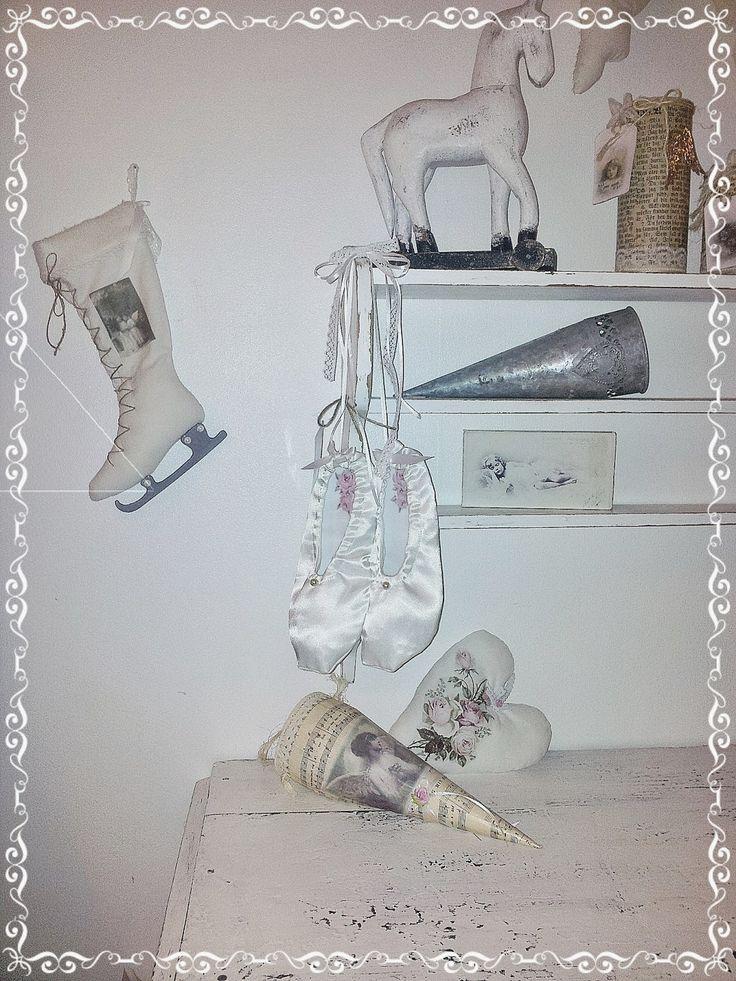 Kickis sytt nytt och nött: Sytt balettskor till dekoration till hemmet  Shabb...