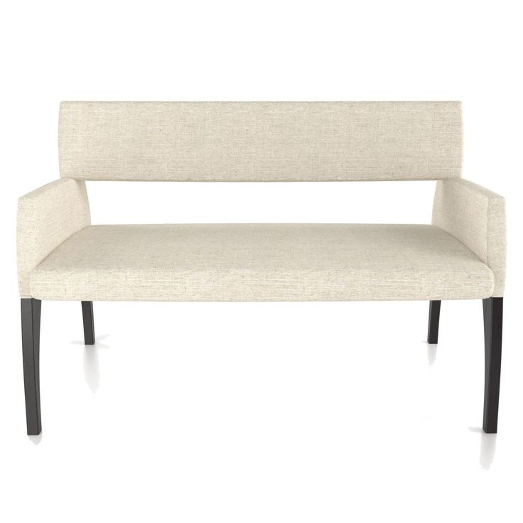 Canadel Custom Dining Customizable Modern Upholstered Bench - Bennett's Home Furnishings - Bench - Dining Benches Peterborough, Campbellford, Durham, Lindsay, Haliburton, Bancroft,