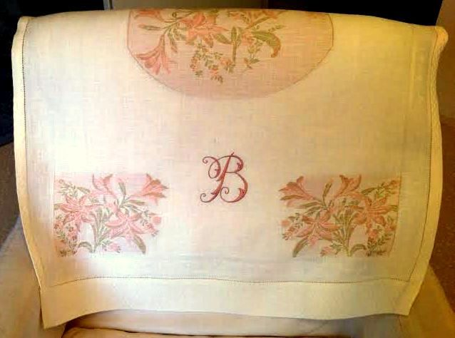 monogramma su asciugamani