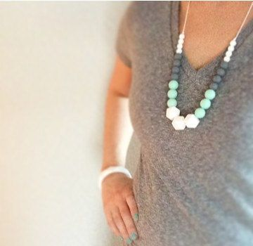 Hey, I found this really awesome Etsy listing at https://www.etsy.com/listing/214735540/silicone-teething-necklace-silicone