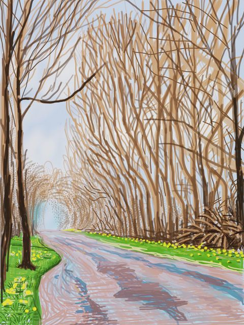 The Arrival of Spring in Woldgate, East Yorkshire in 2011 - 1 April, 2011, by David Hockney