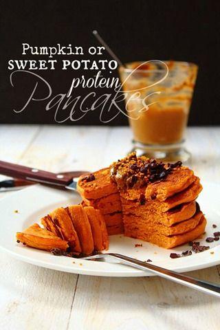 Sweet Potato or Pumpkin Protein Pancakes