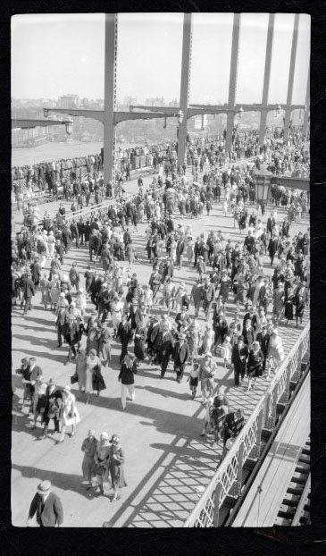 harold cazneaux - opening day of the Sydney Harbour Bridge (?)