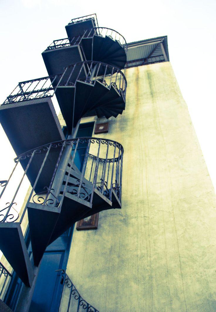 Escalera caracol de la torre
