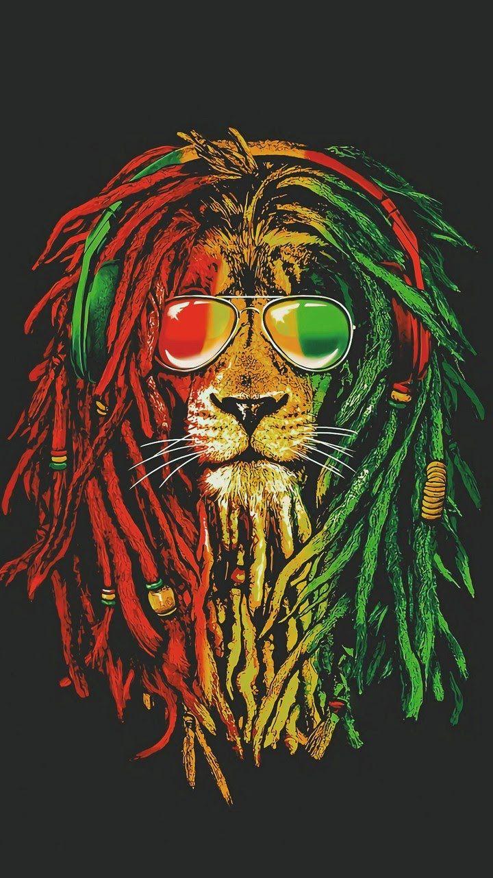 Lion Reggae Fond Ecran Animaux Art Rasta Lion Rasta