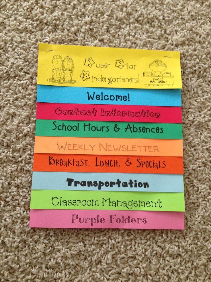 editable template of a Parent Handbook Flip Book! Make for orientation night next year!