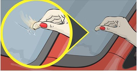 Repara un cristal roto ¡con un diente de ajo!