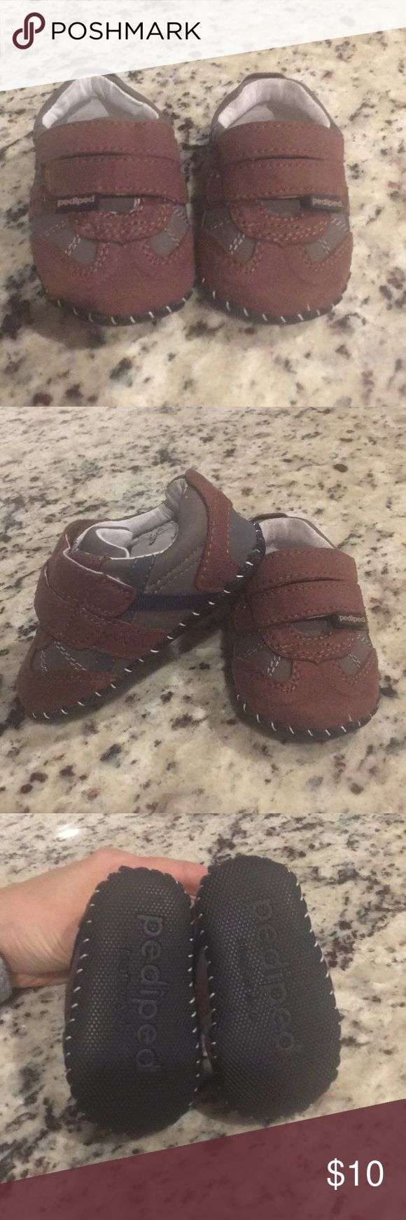 Pediped Infant Shoes Dark brown. Size 4-4.5. 6-12mo. Barely worn! pediped Shoes Baby & Walker