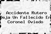 http://tecnoautos.com/wp-content/uploads/imagenes/tendencias/thumbs/accidente-rutero-deja-un-fallecido-en-coronel-oviedo.jpg Noticias De Ultima Hora. Accidente rutero deja un fallecido en Coronel Oviedo, Enlaces, Imágenes, Videos y Tweets - http://tecnoautos.com/actualidad/noticias-de-ultima-hora-accidente-rutero-deja-un-fallecido-en-coronel-oviedo/