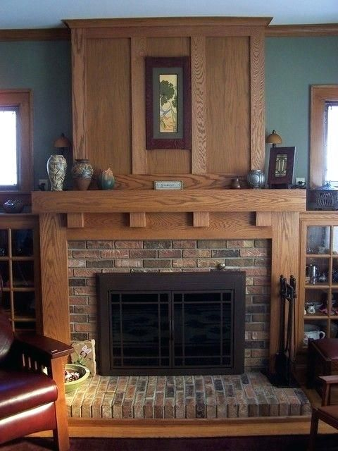 Groovy Craftsman Style Fireplace Surround My Bungalow Home Interior And Landscaping Mentranervesignezvosmurscom