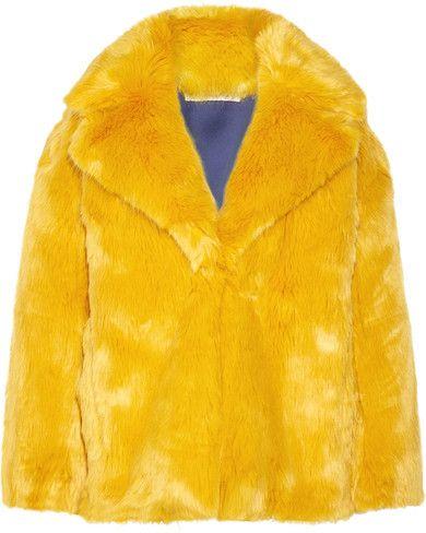 0200a2e4483b Diane von Furstenberg - Faux Fur Coat - Saffron