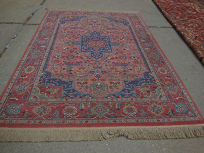 Stunning Karastan Medallion Serapi Wool Area Rug 6 X 9
