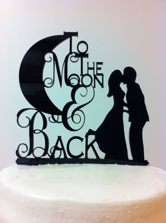 Hey, I found this really awesome Etsy listing at https://www.etsy.com/listing/217242965/silhouette-to-the-moon-back-bride-groom