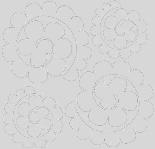 Schema rose in pannolenci