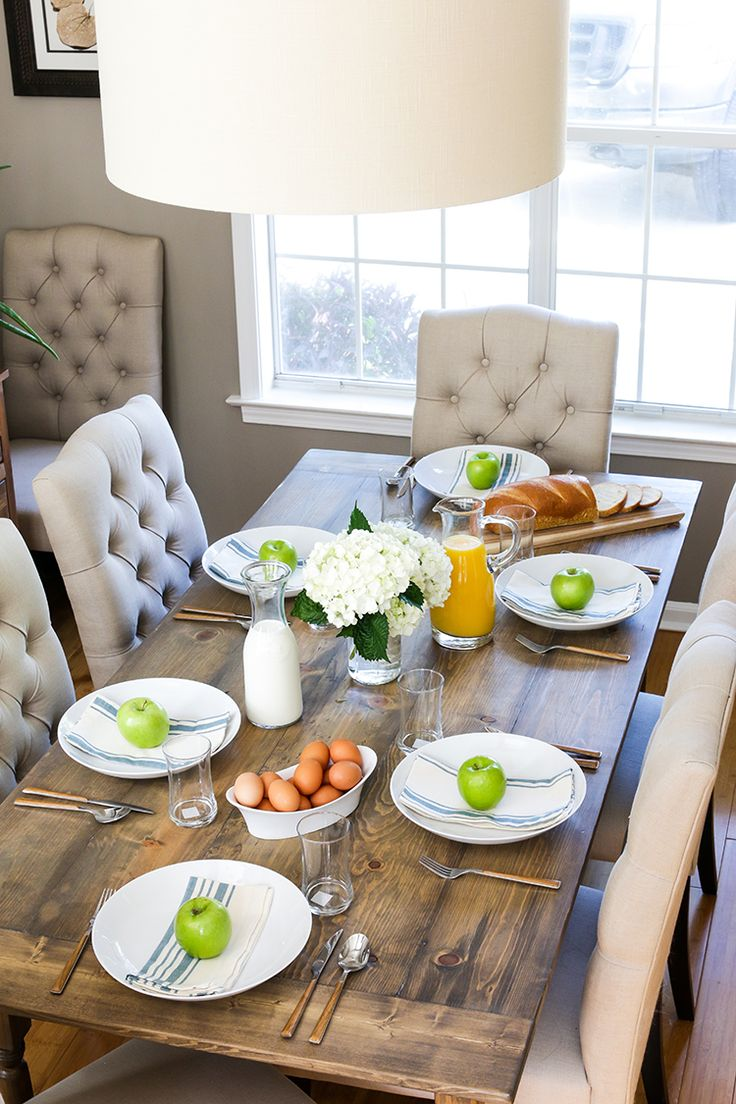 25+ best Farmhouse dining tables ideas on Pinterest | Farmhouse ...