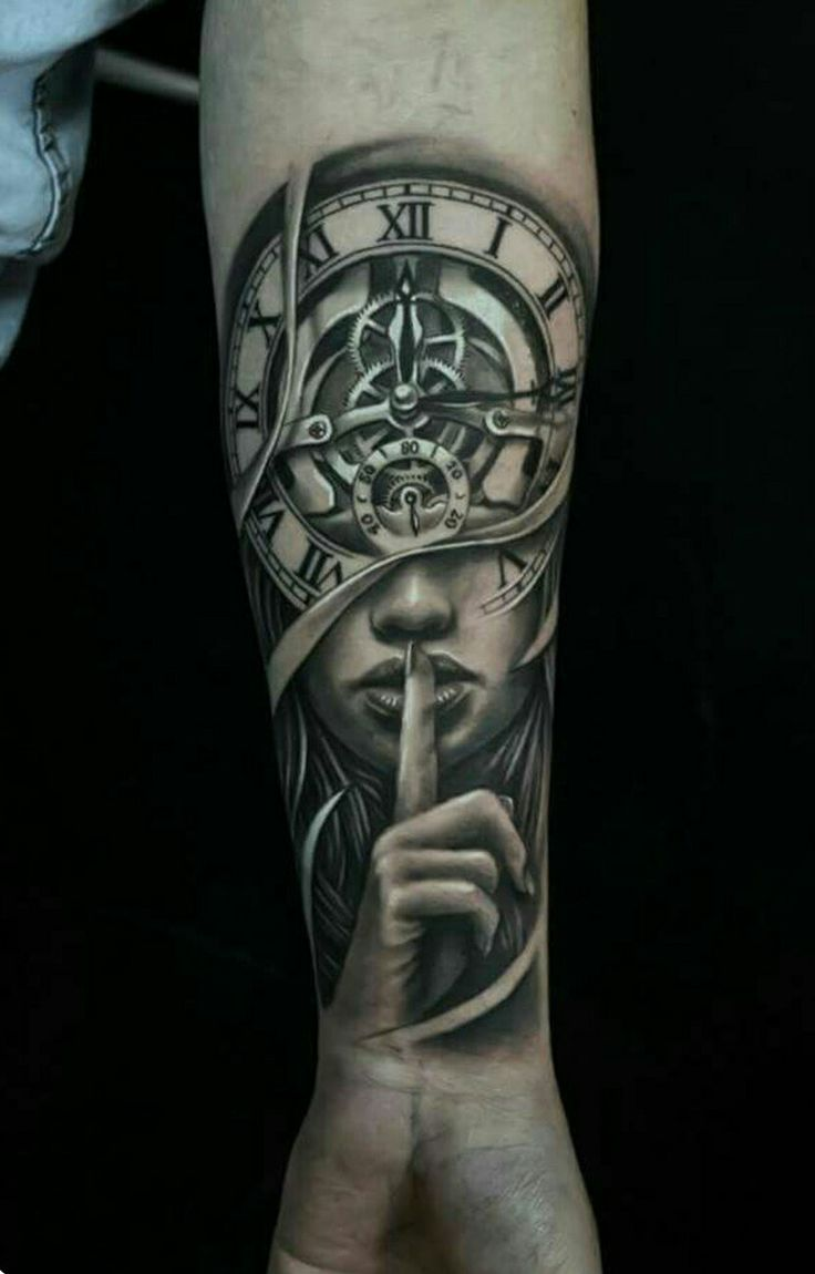 Face tattoos designs and ideas page 7 - Bildergebnis F R Stairs To Clock Tattoo