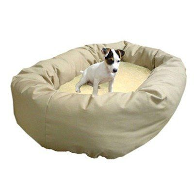 Sherpa Bagel Bed for Pets, Khaki