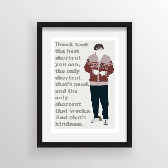 Hey, I found this really awesome Etsy listing at https://www.etsy.com/listing/162414569/derek-ricky-gervais-the-only-shortcut
