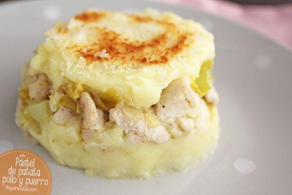 Pastel-pollo,-patatas-y-puerro