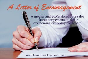 Encourage yourself via writing......Also a great read for busy mommies!