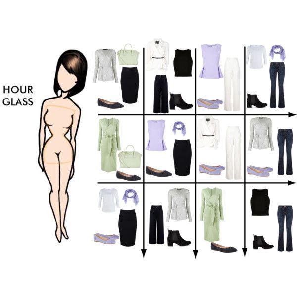 15 Item Capsule Wardrobe for Hour Glass