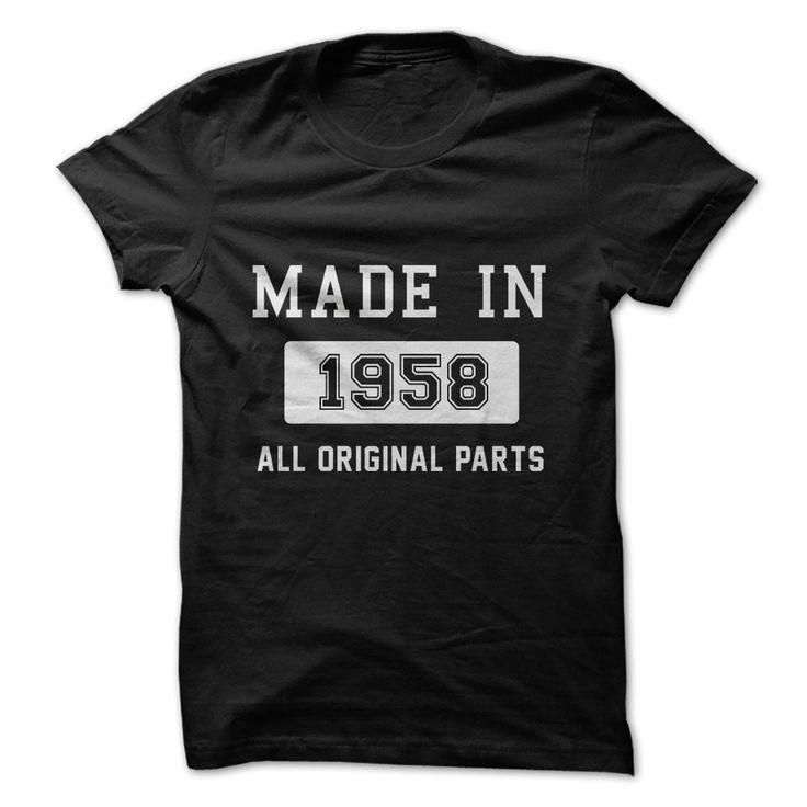 Made in 1958. All Origina... #Aged #Tshirt #year